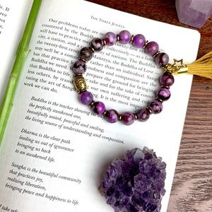 BUDDHA Jasper Stone Tassel Bracelet